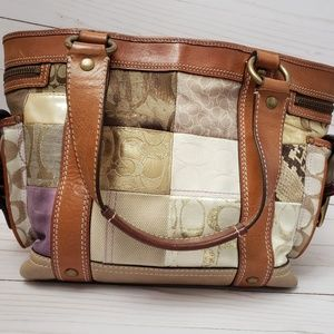 Coach signature patchwork handbag